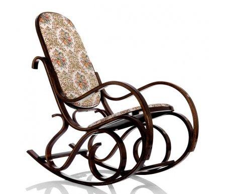 Кресло-качалка Формоза (ткань-1)Кресла<br>Кресло-качалка Формоза (ткань-1) - это уютная и комфортная модель, которая прекрасно впишется в интерьер гостиной.<br> <br>Традиционная конструкция кресла способна выдерживать нагрузку до 90 кг.<br><br>Ширина сиденья: 42 см<br>Ширина: 53 см<br>Глубина сиденья: 45 см<br>Глубина: 100 см<br>Высота сиденья: 37 см<br>Высота спинки: 78 см<br>Высота: 95 см<br>Материал каркаса: дерево<br>Цвет каркаса: темный орех<br>Материал обивки: ткань