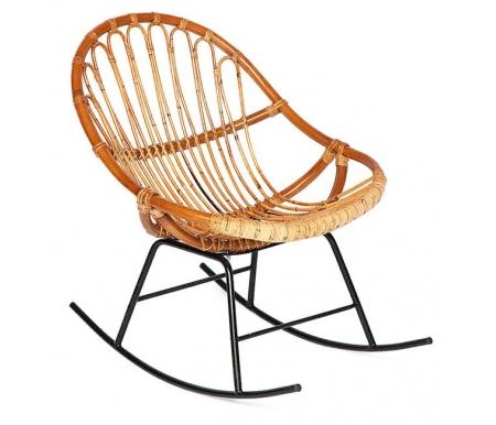 Купить Кресло-качалка Тетчер, из ротанга Secret De Maison Petunia mod. 01 5088 SP KD 1-1 светлый мед / черный, светлый мёд