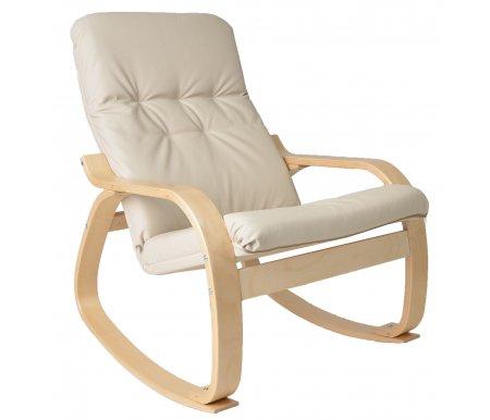 Кресло-качалка Сайма (экокожа)Кресла-качалки<br>Кресло-качалка Сайма (экокожа) - это удобная эргономичная модель, которая прекрасно впишется в современный интерьер. <br>Упругое основание позволяет креслу пружинить и раскачиваться, что добавляет модели еще больше комфорта.<br><br>Цвет: Березовый шпон<br>Цвет: Венге<br>Цвет: Вишня<br>Ширина: 69 см<br>Глубина: 75 см<br>Высота: 97 см<br>Материал каркаса: дерево<br>Цвет каркаса: березовый шпон, венге, вишня<br>Материал обивки: экокожа<br>Цвет обивки: бежевый, шоколад