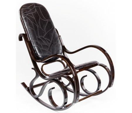 Кресло-качалка VT-С-20Кресла-качалки<br><br><br>Ширина: 54 см<br>Глубина: 47 см<br>Высота: 96,5 см<br>Материал: дерево, искусственная кожа<br>Цвет: темный орех