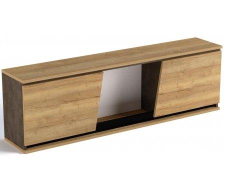Шкаф навесной СБК-мебель Стреза дуб галифакс натуральный / бетон чикаго темно-серый фото