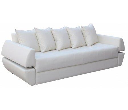 Диван Атлант Т экокожа вайтДиваны<br>Наполнение: пружинный блок Bonnel, войлок, ППУ 25 кг/м3, синтепон, простеганный с обивочной тканью. <br>Наполнение подушек: формованные ППУ и синдишар, крошка ППУ.<br> В диване имеется 2 Бара.<br>