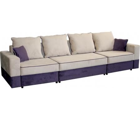Купить Диван-кровать Мебельград, Бостон 2800 вариант 2 бежево-фиолетовый