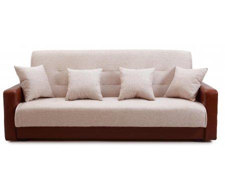 Диван Лондон рогожка бежевая с подушками 77-0109Диваны<br>В комплекте две декоративные подушки. <br><br>Материал каркаса: массив сосны / ДВП.<br>