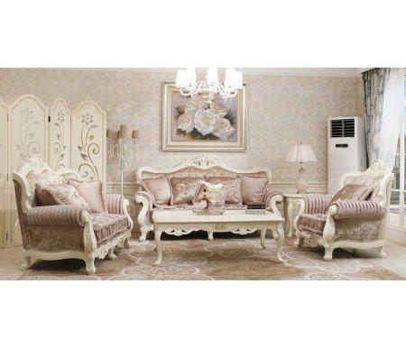 Трехместный диван Милано 8802-А + 2 кресла 8802-А + журнальный столик 8801 Мик