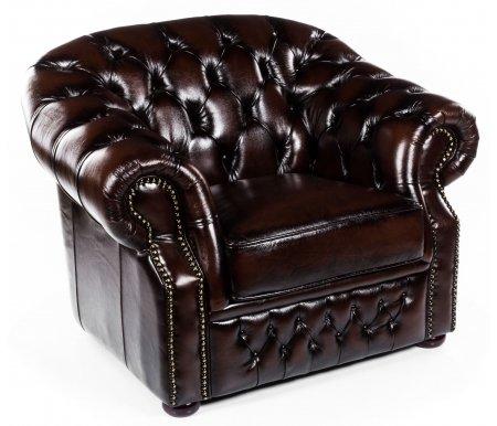 Кресло B-128Кресла<br>Кресло выполнено в классическом стиле, который подчеркивает декор каретной стяжкой.<br><br>Ширина: 109 см<br>Глубина: 99 см<br>Высота: 79 см<br>Материал обивки: натуральная кожа