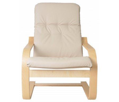 Кресло Сайма (экокожа)Кресла<br>Кресло Сайма (экокожа) - это удобная эргономичная модель, которая прекрасно впишется в современный интерьер. <br>Упругое основание позволяет креслу пружинить, что добавляет модели еще больше комфорта.<br><br>Цвет: Березовый шпон<br>Цвет: Венге<br>Цвет: Вишня<br>Ширина: 69 см<br>Глубина: 84 см<br>Высота: 102 см<br>Материал каркаса: дерево<br>Цвет каркаса: березовый шпон, венге, вишня<br>Материал обивки: экокожа<br>Цвет обивки: бежевый, шоколад