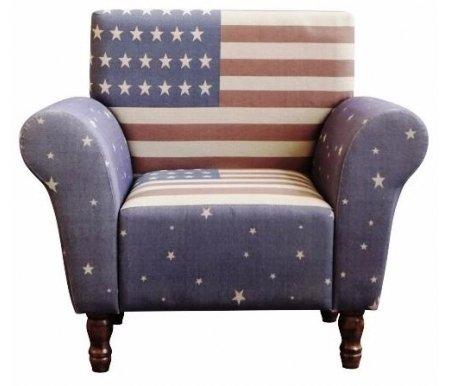 Кресло USA  (UAC2101-7)Кресла<br>Кресло USA выполнено в стиле лофт. Дизайн разработан бельгийскими мастерами.<br><br>Ширина: 93 см<br>Глубина: 61 см<br>Высота: 86 см<br>Материал каркаса: массив дуба<br>Материал обивки: ткань<br>Цвет обивки: синий<br>Вес: 15 кг