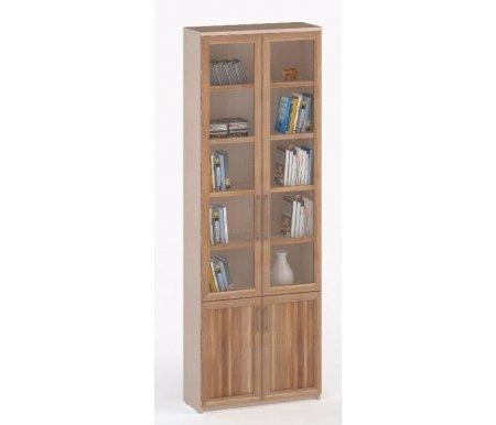 Шкаф книжный СОЛО-037 стекло молочный дуб / сливаШкафы<br><br>