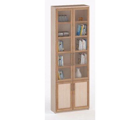 Шкаф книжный СОЛО-037 стекло молочный дуб / слива / молочный дубШкафы<br><br>