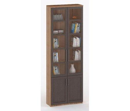 Шкаф книжный СОЛО-037 стекло слива / венгеШкафы<br><br>