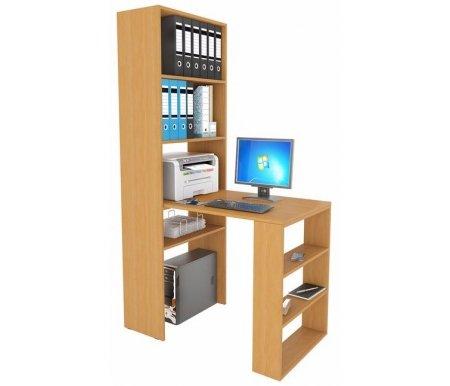 Стеллаж Рикс-4 МСТ-ССР-04-##-16 со столом Рикс-5 МСТ-ССР-05-##-16 букКомпьютерные столы<br><br>