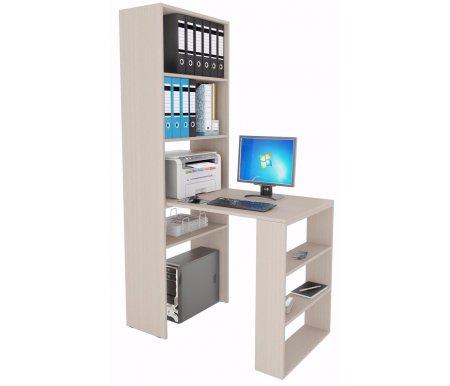 Стеллаж Рикс-4 МСТ-ССР-04-##-16 + Стол Рикс-5 МСТ-ССР-05-##-16 молочныйКомпьютерные столы<br><br>