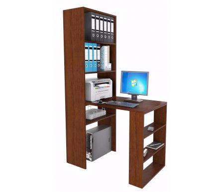 Стеллаж Рикс-4 МСТ-ССР-04-##-16 + Стол Рикс-5 МСТ-ССР-05-##-16 орехКомпьютерные столы<br><br>