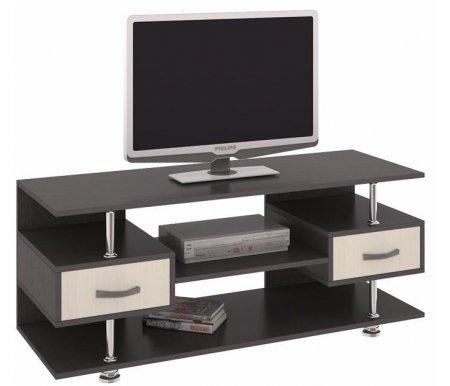 Тумба TV-14 108.014ТВ-Тумбы<br>Тумба TV - это многофункциональная деталь для интерьера комнаты. Цвет ручек - серый металлик, материал - пластик.<br><br>Ширина: 120 см<br>Глубина: 44 см<br>Высота: 50 см<br>Материал каркаса: ЛДСП<br>Цвет каркаса: венге цаво, дуб сонома<br>Материал фасада: ЛДСП<br>Цвет фасада: венге цаво, дуб молочный<br>Вес: 35 кг