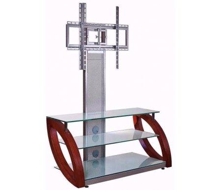 Купить ТВ-тумба Akur, Фантом ПС 120 см стекло серебристое / декор вишня, серебряный / вишня