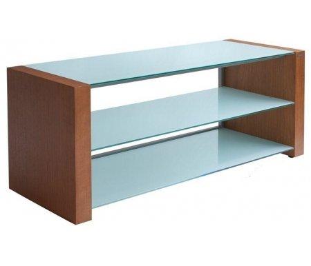Здесь можно купить Классик 80 см стекло серебристое / декор ольха  ТВ-тумба Akur ТВ-Тумбы