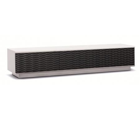 Купить ТВ-тумба Akur, Lisewood Echo 3 корпус белый фасад черный основание белое, белый / черный / белый