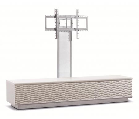Купить ТВ-тумба Akur, Lisewood Echo 3 PS корпус белый фасад белый основание белое ПС белый
