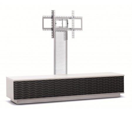 Купить ТВ-тумба Akur, Lisewood Echo 3 PS корпус белый фасад черный основание белое ПС белый, белый / черный / белый