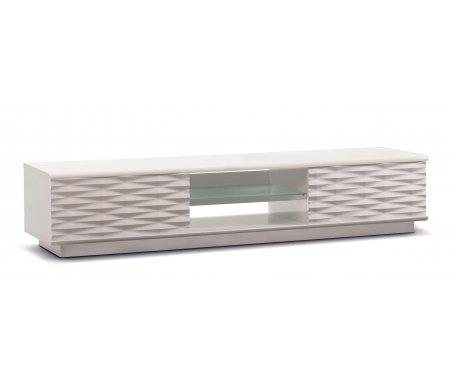 Купить ТВ-тумба Akur, Lisewood Iceberg 2 корпус белый фасад белый стекло матовое основание белый