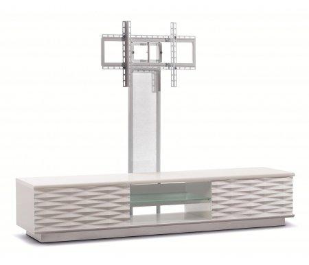 Купить ТВ-тумба Akur, Lisewood Iceberg 2 PS корпус белый фасад белый стекло матовое основание белое ПС белый