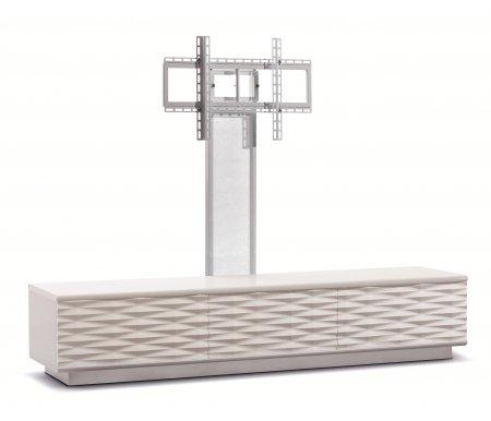 Купить ТВ-тумба Akur, Lisewood Iceberg 3 PS корпус белый фасад белый основание белое ПС белый