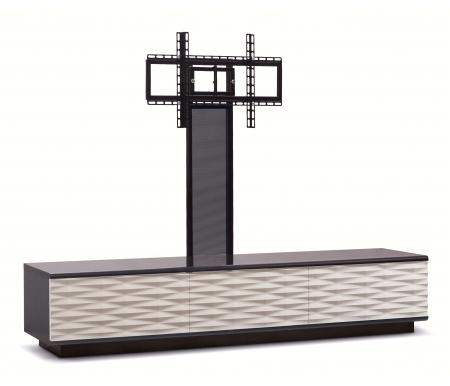 Купить ТВ-тумба Akur, Lisewood Iceberg 3 PS корпус черный фасад белый основание черное ПС черный, черный / белый / черный