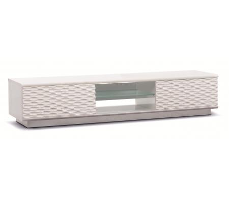 Купить ТВ-тумба Akur, Lisewood Luna 2 корпус белый фасад белый стекло матовое основание белый