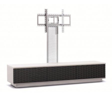 Здесь можно купить Lisewood Luna 3 PS корпус белый фасад черный основание белое ПС белое  ТВ-тумба Akur ТВ-Тумбы