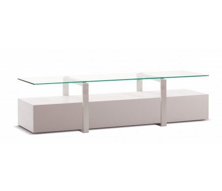 Купить ТВ-тумба Akur, Lisewood Panorama корпус белый рамка белая стекло прозрачное, белый / белый
