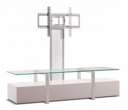 Купить ТВ-тумба Akur, Lisewood Panorama PS корпус белый рамка белая стекло прозрачное ПС белый