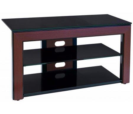 Здесь можно купить Марсель 100 см стекло черное / декор махагон  ТВ-тумба Akur ТВ-Тумбы