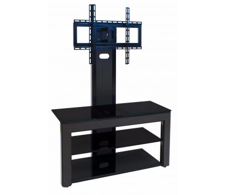Купить  Марсель ПС 80 см стекло черное / декор венге  ТВ-тумба Akur