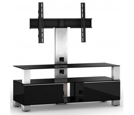 Купить ТВ-тумба Sonorous, MD 8143-B-INX-BLK, стальной / черный