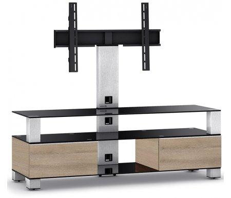 Купить ТВ-тумба Sonorous, MD 8143-B-INX-MOL, стальной / черный / mol