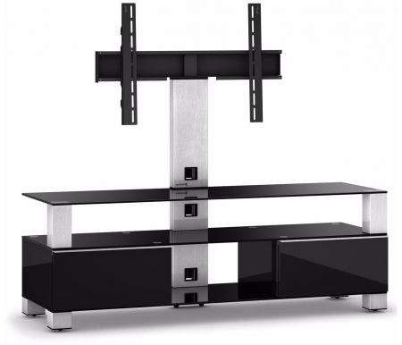 Купить ТВ-тумба Sonorous, MD 8143-C-INX-BLK, стальной / черный