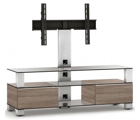 Купить ТВ-тумба Sonorous, MD 8143-C-INX-MOL, стальной / прозрачный / mol
