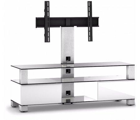 Купить ТВ-тумба Sonorous, MD 8143-C-INX-WHT, стальной / прозрачный / белый