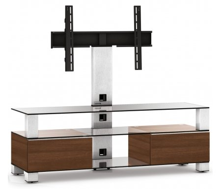 Купить ТВ-тумба Sonorous, MD 8143-C-INX-WNT, стальной / прозрачный / apple