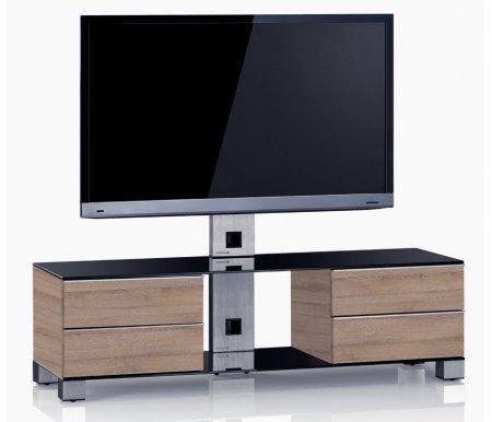Купить ТВ-тумба Sonorous, MD 8540-B-INX-MOL, стальной / черный / mol