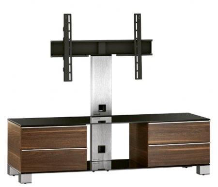 Купить ТВ-тумба Sonorous, MD 8540-B-INX-WNT, стальной / черный / орех