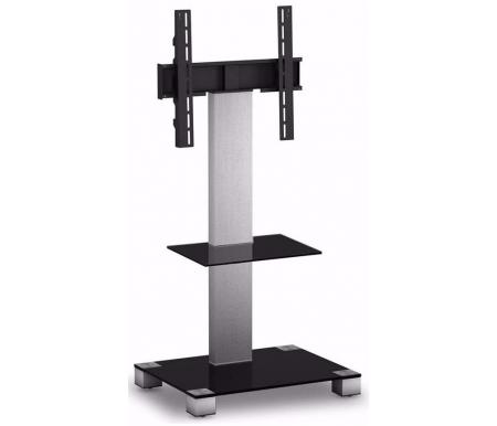 Купить ТВ-тумба Sonorous, PL 2515-B-INX, черный / стальной