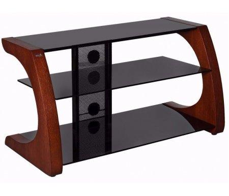 Купить ТВ-тумба Akur, Сиквел 100 см стекло черное / декор вишня, черный / вишня