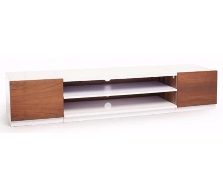 Купить ТВ-тумба Fundesk, TechLink SR175WTW белая / коричневая, белый / коричневый