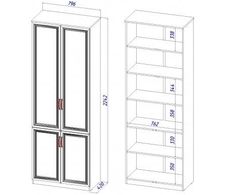 Шкаф четырехдверный Васко