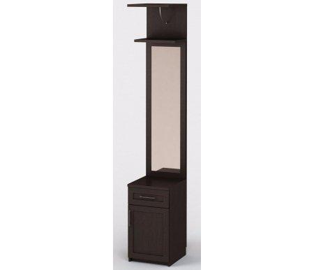 Секция с зеркалом СОЛО-029Шкафы<br><br><br>Ширина: 40 см<br>Глубина: 45 см<br>Высота: 231 см<br>Материал: ЛДСП, зеркало<br>Вес: 46 кг