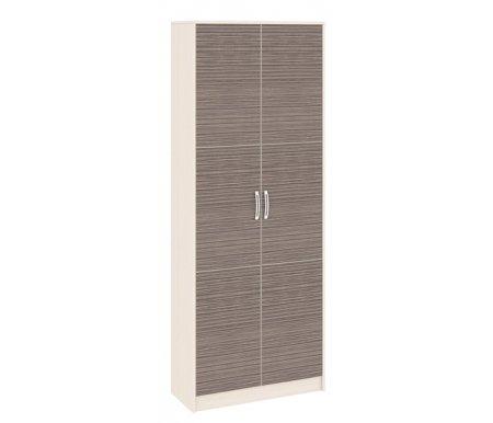 Шкаф двухдверный Нова 156.04Шкафы<br>Шкаф серии Нова станет прекрасной основой для вашей прихожей. Шкаф оснащен секцией со штангой и нишами и секцией с полками. Большой и вместительный шкаф отлично впишется в интерьер комнаты.Цвет ручек - хром.<br><br>Ширина: 83,2 см<br>Глубина: 36,3 см<br>Высота: 215,8 см<br>Материал: ЛДСП<br>Цвет каркаса: дуб белфорт<br>Цвет фасада: каналы дуба<br>Вес: 62 кг