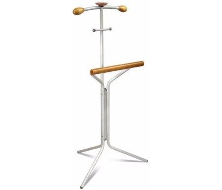Вешалка костюмная Галилео 151 алюминийВешалки напольные<br>Вешалка костюмная Галилео 151 - это комфортная для использования вешалка из стали и натурального дерева.<br> <br> Простая и функциональная, она займет свое место в вашей спальне или гардеробной.<br>