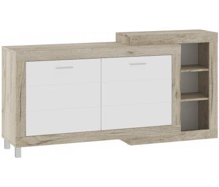 Купить Комод НК мебель, Генезис ГК-1800 дуб серый крафт / дуб белый крафт, дуб серый крафт / белый глянец